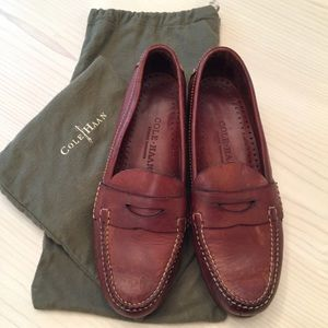 Cole Haan Brown leather loafers 8M